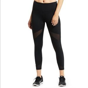 Athleta black Stealth Mesh 7/8 Crop Tight